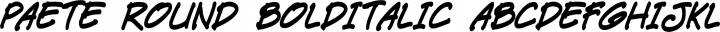 Paete Round BoldItalic free font