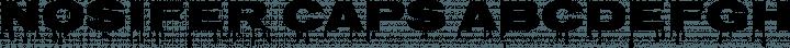 Nosifer Caps Regular free font