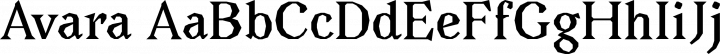 Avara font family by Raphaël Bastide