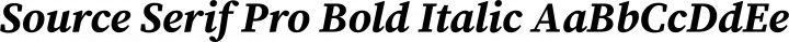 Source Serif Pro Bold Italic free font