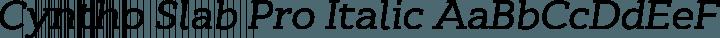 Cyntho Slab Pro Italic free font
