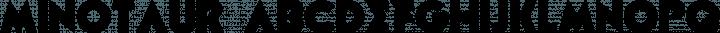 Minotaur font family by Walter Velez