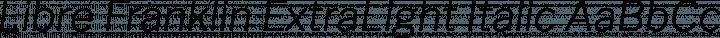 Libre Franklin ExtraLight Italic free font