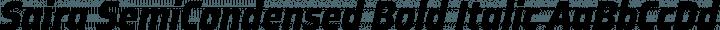 Saira SemiCondensed Bold Italic free font