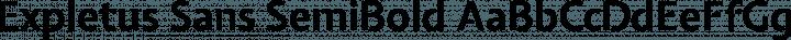Expletus Sans SemiBold free font