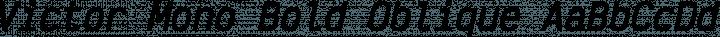 Victor Mono Bold Oblique free font