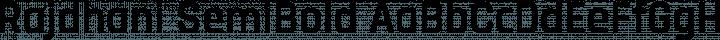 Rajdhani SemiBold free font