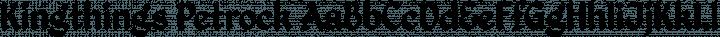 Kingthings Petrock Regular free font