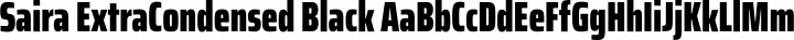 Saira ExtraCondensed Black free font