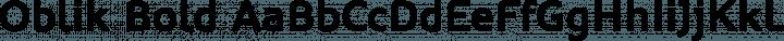 Oblik Bold free font
