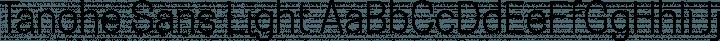 Tanohe Sans Light free font
