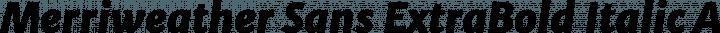 Merriweather Sans ExtraBold Italic free font