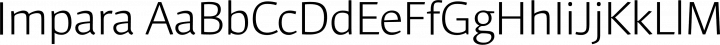 Impara font family by Hoftype