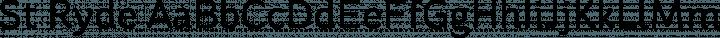 St Ryde Regular free font