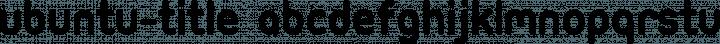 Ubuntu-Title font family by Andrew Fitzsimon
