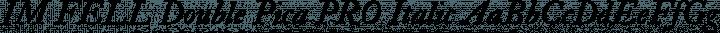 IM FELL Double Pica PRO Italic free font