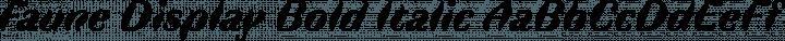 Faune Bold Italic free font