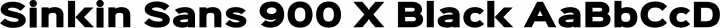 Sinkin Sans 900 X Black free font
