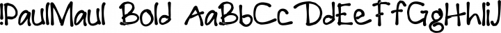 !PaulMaul Bold free font
