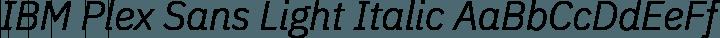 IBM Plex Sans Light Italic free font