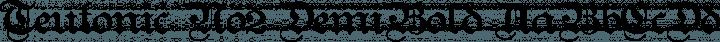 Teutonic No2 DemiBold free font