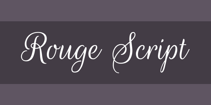 Rouge Script Font Free by TypeSenses » Font Squirrel