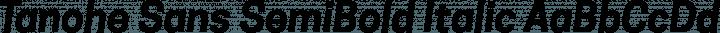 Tanohe Sans SemiBold Italic free font