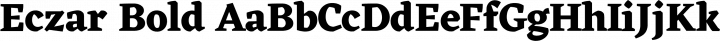 Eczar Bold free font