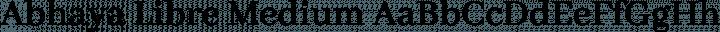 Abhaya Libre Medium free font