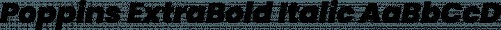 Poppins ExtraBold Italic free font