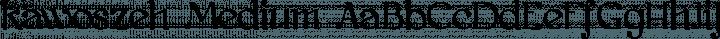 kawoszeh Medium free font