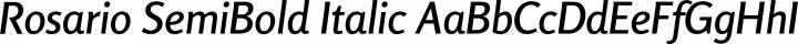 Rosario SemiBold Italic free font