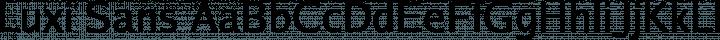 Luxi Sans Regular free font
