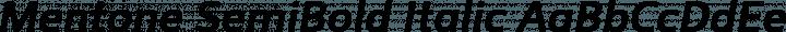 Mentone SemiBold Italic free font