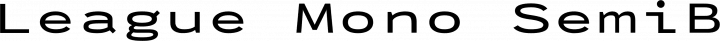 League Mono SemiBold Extended free font