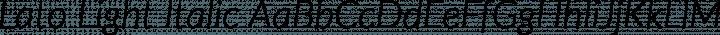 Lato Light Italic free font