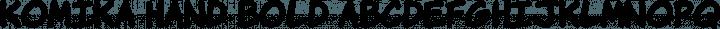 Komika Hand Bold free font