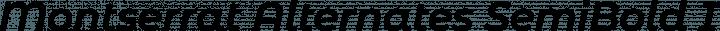 Montserrat Alternates SemiBold Italic free font