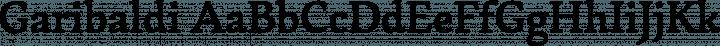 Garibaldi font family by Harbor Type