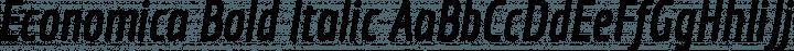 Economica Bold Italic free font