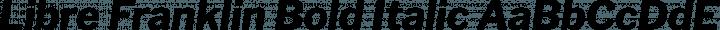 Libre Franklin Bold Italic free font