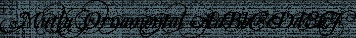 Mutlu  Ornamental free font