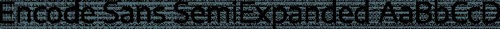 Encode Sans SemiExpanded Regular free font