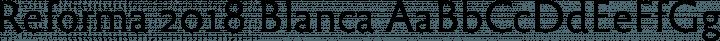 Reforma 2018 Blanca free font
