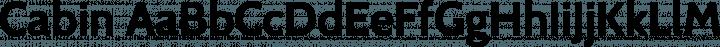 Cabin font family by Impallari Type