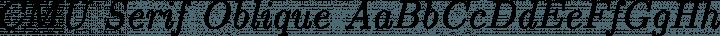 CMU Serif Oblique free font
