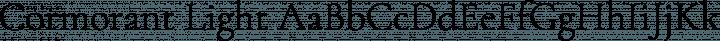 Cormorant Light free font
