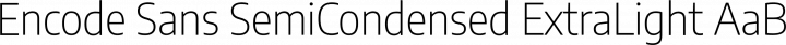 Encode Sans SemiCondensed ExtraLight free font