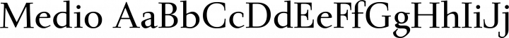 Medio font family by dot colon