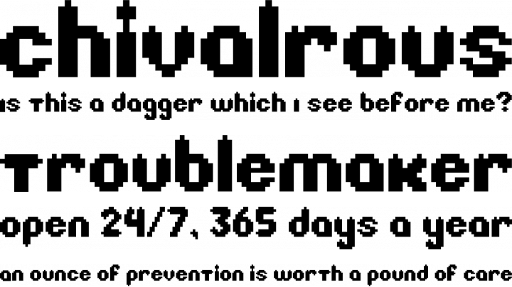 Litebulb 8 Bit Font Zillion